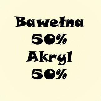 Bawełna 50%/ Akryl 50% Jednolita